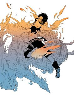 Portgas D. Ace and Marco the Phoenix #one piece