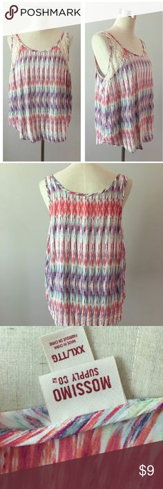♦️ SALE ♦️Mossimo NEW boho Colorful Tank Mossimo NEW boho Colorful Tank. Size XXL, fits like an XL. In great condition. Please see pictures. Thank you for looking at my listing and feel free to ask questions :)!   ⭐️️Bundle and save⭐️10% off 2 items & 20% off 3+ items!   •Sorry no trades. •No modeling please. Mossimo Supply Co. Tops Tank Tops