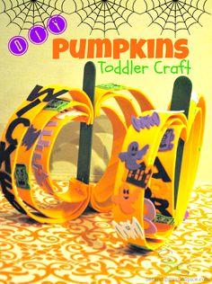 Toddler Crafts Pumpkins #ValueSeekersClub- maybe thanksgiving theme instead if Halloween?