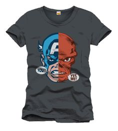Camiseta mitad Capitán América