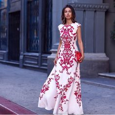 Beautiful dresses come in red and white #tedbaker ultra feminine and chic . It all really depends on a woman's skin tone and body shape... @vivaluxuryblog by ruelulu
