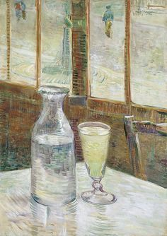 """Café Table with Absinth"", 1887, Vincent van Gogh."