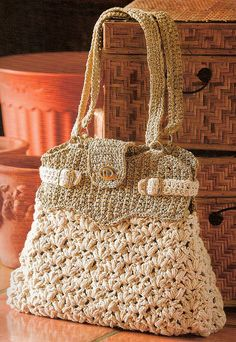 Puff Stitch Crowns Bag by KimKotary, via Flickr