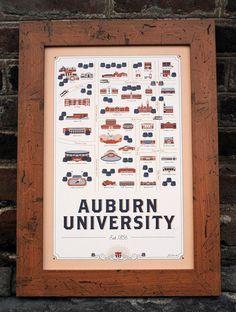 Auburn graphic design graduate creates unique map of AU campus