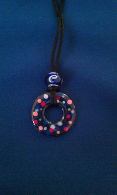 Cute Washer Necklace by ACharmedDelight on Etsy