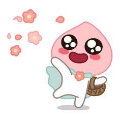 Apeach Kakao, Kakao Friends, Line Friends, Kawaii Drawings, Cute Gif, Emoticon, Cute Designs, Pixel Art, Kpop