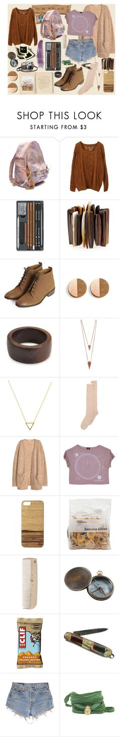 """""""weathered"""" by ju-on ❤ liked on Polyvore featuring Hermès, Viktoria Hayman, Topshop, NOVICA, Jules Smith, Wanderlust + Co, With Love From CA, H&M, HAY and Authentic Models"""