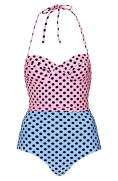 cute polka dot one-piece swimsuit http://rstyle.me/n/hryh4r9te