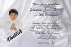 1st Holy Communion Invitations Host 1 Picture - Digital Download - Get these invitations RIGHT NOW. Design yourself online, download and print IMMEDIATELY! Or choose my printing services. No software download is required. Free to try!