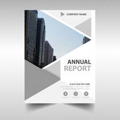 Creative grey annual report cover Free V... | Free Vector #Freepik #freevector #freebrochure #freeflyer #freeposter #freemockup