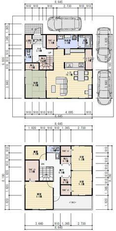 1階クロゼットを土間収納にしてそこから洗面に繋いで上がれるように 玄関先から階段がみえないのいいね Japanese House, Japanese Style, Floor Plants, Interior Decorating, Interior Design, Japanese Architecture, House Floor Plans, Layout, Flooring