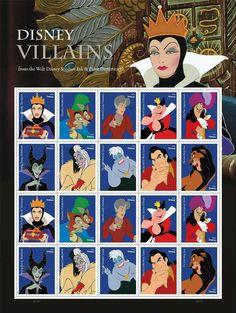 Disney Villain U.S. postage stamps. https://link.usps.com/2017/06/21/disney-villains/