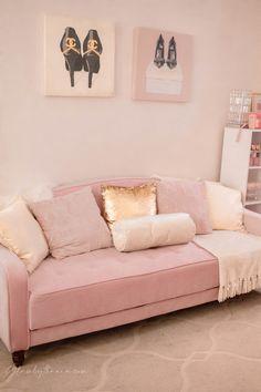 Pink Walk in Closet & Beauty Room Reveal Teen Bedroom Designs, Cute Bedroom Ideas, Room Ideas Bedroom, Bedroom Colors, Bed Room, Bedroom Decor, Chanel Inspired Room, Cube Storage Shelves, Closet Storage