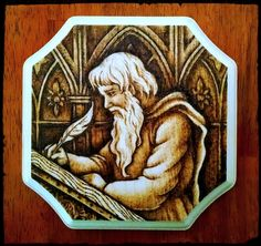 Medieval Scribe 6 by 6 inches