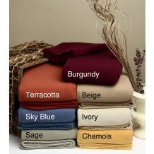 @Overstock - Keep warm with a blanket woven in Italy with the best pure new wool and whipstitched on all sidesBlanket available in burgundy, sage, ivory, yellow, sky-blue and beige colors  Wool blanket comes in twin, full, queen and king sizeshttp://www.overstock.com/Bedding-Bath/Four-Seasons-Italian-Washable-Wool-Blanket/3671914/product.html?CID=214117 $138.99