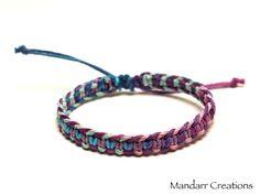 Fishbone Hemp Bracelet Herringbone Pattern by MandarrCreations