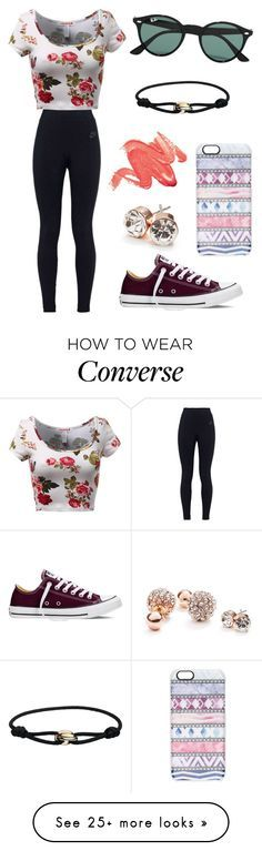 """""""#No name"""" by eemaj on Polyvore featuring NIKE, Converse, Ray-Ban, Casetify, GUESS, Cartier, women's clothing, women, female and woman"""
