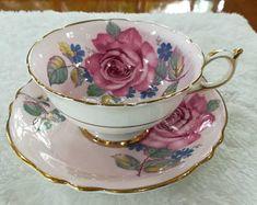 Paragon rose vintage pink cup