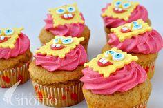 Cupcake bob esponja Biscuit Cupcakes, Mini Cupcakes, Cupcake Cakes, Cup Cakes, Sponge Bob Cupcakes, Fondant, Recipes Appetizers And Snacks, Cupcake Heaven, Pretty Cakes