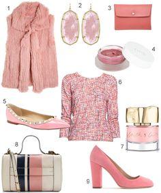 8b4ac6676b0d12 Ladylike Pink Trend  JCrew  ToryBurch  Calypso  KendraScott  Nordstrom  Cos  Everything