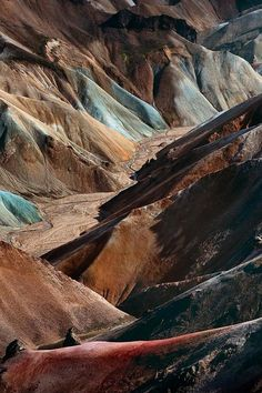 Landmannalaugar: a place in the Fjallabak Nature Reserve in the highland of Iceland