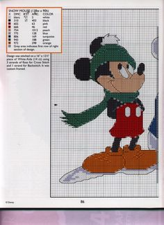 Mickey Collection~pg 86 Snow Mouse 1