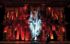 The Machine.  Robert LePage's set for Met Opera's new production of Wagner's Ring. An astonishing example of immersive stagecraft.  Artistry and technology in balance.