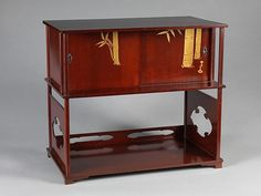 "Kamisaka Sekka | Tea Cabinet with Bamboo | Japan | Taishō period (1912–26) | The Met. In Metropolitan Museum of Art's exhibition ""Designing Nature: The Rinpa Aesthetic in Japanese Art"""