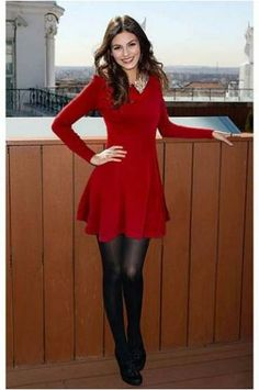 Brand new red sweater dress w/ sequin collar M Red Dress Outfit, Red Sweater Dress, Dress Outfits, Fashion Outfits, Dress Black, Dress Shoes, Shoes Heels, Trendy Dresses, Tight Dresses