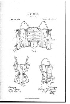 1874 Patent US146976 - Improvement in corsets - Google Patents