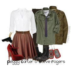 peggy carter steve rogers created by polyspolyvore on polyvore