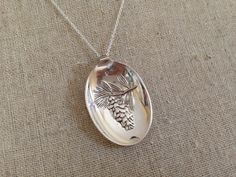 Spoon Jewellery Spoon Necklace Flower Necklace by GeorginaBaker, $46.00