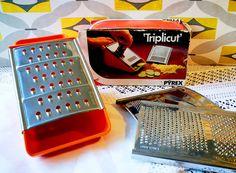 Rare Pyrex Triplicut H55 cheese grater, slicer, Vintage pyrex, Mid century kitchen, Vintage kitchenalia, Retro kitchen tools, Orange grater