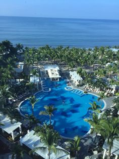 The view from the balcony at the Riu Vallarta in Mexico, December 2014