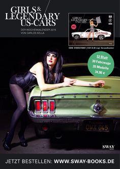 "Clea Cutthroat im ""GIRLS & LEGENDARY US-CARS"" 2015 Kalender von Carlos Kella // (Thanks to Carmania) Limitiert/Nummeriert/Auflage: 2015 Stück // Fotografie: www.carloskella.de // Verlag: SWAY Books // Umfang: 56 Blatt, davon 52 Kalenderblätter// ISBN: 9783943740097 // Preis Wochenkalender mit 52 Motiven: EUR 34,90 (inklusive MwSt.) >> Get yours: www.sway-books.de (Germany) www.ars-vivendi.de (other Countries)"