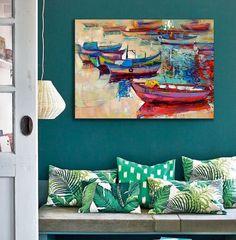 Wanddeko - Bild auf Leinwand - ein Designerstück von Ortons bei DaWanda Designer, Etsy, Artwork, Painting, Wall Canvas, Work Of Art, Auguste Rodin Artwork, Painting Art, Artworks