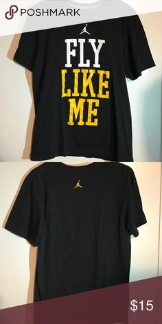 09bf4e1a637b Shop Men s Jordan Black Yellow size M Tees - Short Sleeve at a discounted  price at Poshmark. Description
