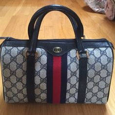 Authentic Vintage Gucci Boston Bag Vintage Gucci Boston bag. Outside is in excellent condition. Great coloring. Inside has some stains, but has been cleaned. Authentic. Sold as is. Final sale. Gucci Bags