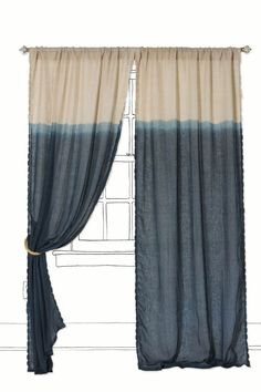Quarter Color Curtain @ Anthropology   Easy DIY For Less With RIT Dye