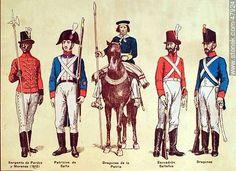 Sargento de Pardos y Morenos (1810), Patricios de Salta, Dragones de la Patria, Escuadrón Salteños, Dragones.