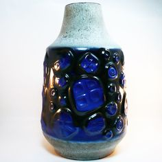 XXL West German Pottery Floor Vase / Bodenvase • 70's Fat Lava • Carstens