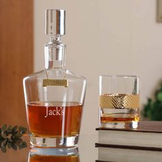 Boxed WHISKY NEW Sterling Silver Round DECANTER // Wine Label