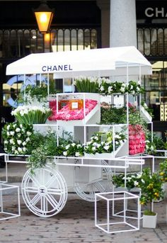 Chanel Nail Bar and Flower Stall in Covent Garden, London