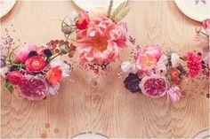 Pretty floral centerpieces