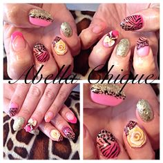 Animal Print Boutique Acrylic Nails