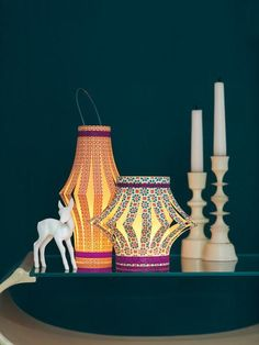 Chinese lanterns and candlesticks in front of a dark wall – 708252 – Get high-quality interior design images for your projects – rights-managed and royalty-free Diy Party Crafts, Diy Crafts For Kids, Arts And Crafts, Diy Paper, Paper Crafts, Chinese Lanterns, Pop Up Shops, Paper Lanterns, Design Crafts