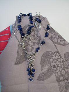 Heidin korutaiteilut: Korusetti sinisillä kivillä