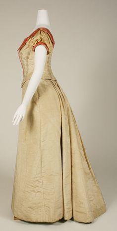 Evening dress Date: 1891–92 Culture: British Medium: silk