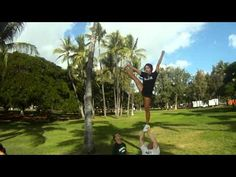 University of Hawaii's co-ed cheerleading team. They pull some amazing co-ed stunts in this! Cheer Stunts, Cheerleading, Amazing Co, University Of Hawaii, Stay Fit, Gopro, Getting Old, Girl Hairstyles, Hair Style