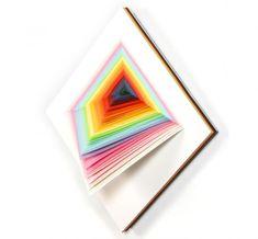 Spectral color in paper sculpture by Jen Stark - ego-alterego.com